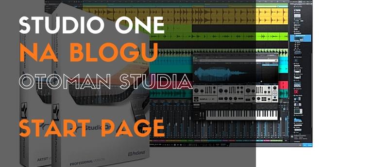 Studio One - Start Page