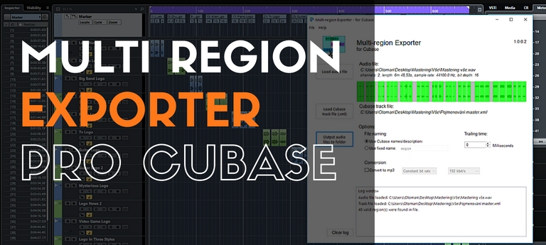 Multi Region Exporter pro Cubase