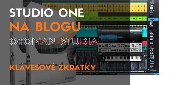 Studio One - Klávesové zkratky
