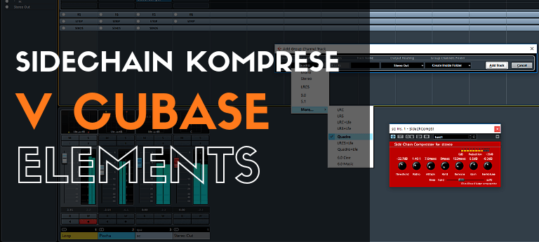Sidechain komprese v Cubase Elements